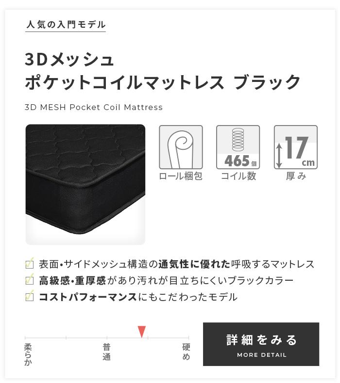 3Dメッシュ ブラック